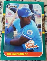 BO JACKSON 1987 Donruss Rookies Rookie Card RC RARE KC Royals Raiders Auburn