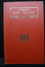 Ww1 Australian Tasmanian War Record 14-18 Book