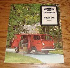Original 1966 Chevrolet Trucks Chevy-Van Series G10 Foldout Sales Brochure 66