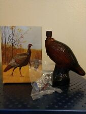 Vtg.Avon Wild Turkey Wild Country After Shave Decanter-Full - 6 oz Glass Bottle
