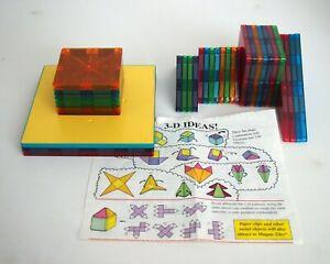 Magna-Tiles: 34 Piece Magnetic Transparent Colored Tiles