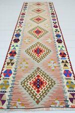 "Vintage Anatolian Kilim Runner Rug Carpet Runner Hallway Corridor Rug 28,7""X91,3"