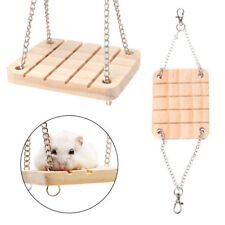 Pet Hamster Toys Wooden Swing Seesaw Rat Mouse Harness Parrot Suspension Hanging