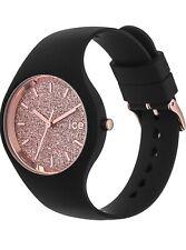 Ice Watch Damen Uhr schwarz Rose Gold Neu Ovp