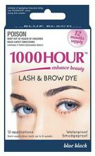 1000 Hour Eyelash & Brow Dye / Tint Kit Permanent Mascara 1 Pack, Blue-Black