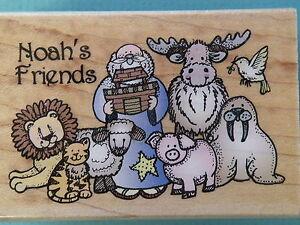 Noah & His Animal Friends HERO ARTS Rubber Stamp