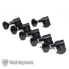 Black Locking guitar machine heads / tuners 6 line left Handed