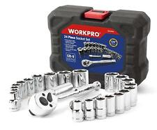 """Workpro 24-piece Compact Drive Sockets Set 3/8"""" Ratchet With Blow Molded Case AU"""