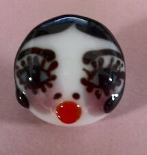 100% handmade lampwork paperweight shape glass button girl face design