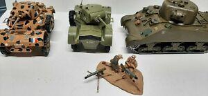 Airfix Desert Combat WW2 1/32 Sherman tank & 2 Daimler armored cars custom