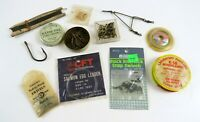 Mixed Lot Cool Vintage Fishing Tackle Items, Pflueger, Good Luck, etc.