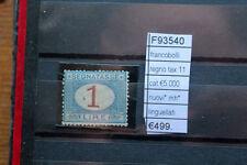 FRANCOBOLLI ITALIA REGNO TAX11 CAT 5.000 NUOVI* NH* LINGUELLATI (F93540)