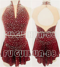 Ice Figure Skating Dress Figure skaitng Dress Wine red For Competition