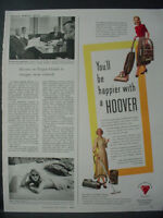 1948 Hoover Cylinder Cleaner Vacuum House Wife Vintage Print Ad 12718