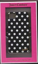 Juicy Couture Black with Small White Polka Dots Case Cover iPhone 4/4S