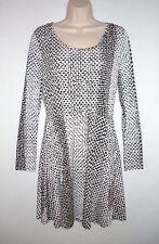 NWT MSRP $99.50 - MICHAEL KORS Kobe Jersey Dress, Choco / White, Size MEDIUM (M)