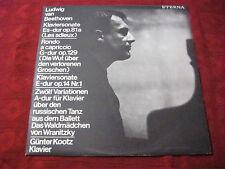 Günter LP Kootz BEETHOVEN PIANOFORTE Sonata Es-Dur raccogli 81a (Les adieux) eterna 1968