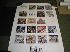 Vintage Beatles 2 Sided Promo 20 x 30 Poster Vg