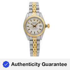 Rolex Datejust Acero Oro Amarillo Automático con Marcador de Palos Blanco Reloj De Damas 69173