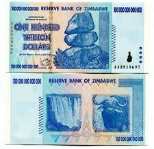 ZIMBABWE 100 TRILLION DOLLARS P-91 2008 UNC