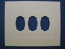 Passe-Partout pour encadrement jaune avec fenêtres 30 x 24 cm
