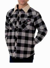 Dickies Men's Buffalo Twill Jacket w/ Sherpa Lined Collar Grey Black - Large