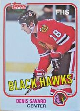 1981-82 Topps #W75 Denis Savard ROOKIE CARD Chicago Blackhawks (INV#1049)