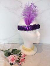 Vintage 1920 S Clapet Fascinator Violet Serre-tête plume Gatsby Native Indian UK