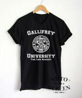 Gallifrey University Shirt Doctor Who T-Shirt V-Neck Mens TV Series Gift Tee Top