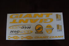Giant Stickers XTC SE1 Yellow & Silver.