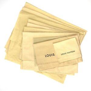 100% Authentic Louis Vuitton Set of 10 Dust Bag Brown Cotton [Used] {08-0396}