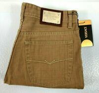 Gianni Versace Couture Men's Long Pants Size 34 - 50 Tan 100% Authentic BNWT!