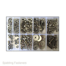 Assorted M6 Metric A2 Stainless Steel Set Screw Bolts, Nuts & Washers