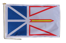 More details for newfoundland and labrador canada flag with rope and toggle - various sizes