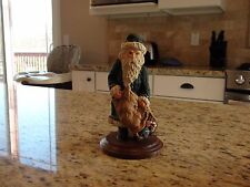 June McKenna Collectibles Wooden Santa Figurine 1982-1986