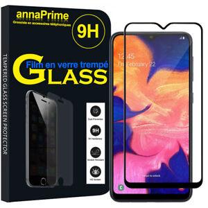 """Vitre Verre Trempe Protecteur d'écran NOIR Samsung Galaxy A10 6.2"""" SM-A105F"""