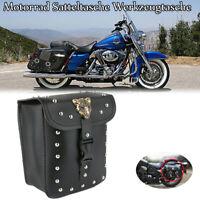 Motorrad Satteltaschen Werkzeugtaschen Seitentaschen PU Leder Für Harley