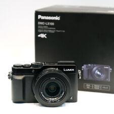Panasonic LUMIX DMC-LX 100, Digitalkamera, 4K, Leica Objektiv, schwarz, wie neu