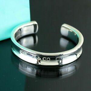 "TIFFANY & CO. ""1837"" Bangle Cuff Bracelet Sterling Silver 925"