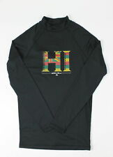 Quiksilver Mens Hawaii Rasta Rashguard L/S T-Shirt Black Size M New