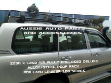 Enclosed Deluxe Steel Roof Rack 2200mm for TOYOTA LandCruiser 100 Series Rack