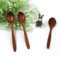 18cm Natural Wood Spoon Eco-Friendly Tableware Dining Soup Kitchen Accessories
