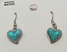 PAUA Shell abalone Nature's 1 Earrings Heart Wheeler Mfg WTE 039 NEW