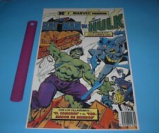MARVEL & DC COMICS BATMAN VS THE INCREDIBLE HULK POSTER PIN UP