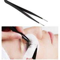 1pcs Curved / Straight Tweezers for False Eyelash Extension, Nail art Nippers LD