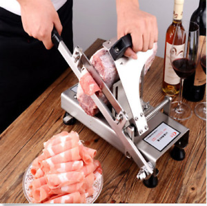 New Manual Control Meat Slicer SUS304 stainless steel  Manual Frozen Meat Slicer