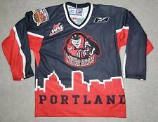 Reebok Portland Winterhawks Hockey Jersey CHL WHL Sewn Patches Cityscape 2006 SM