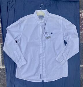 BNWT Carhartt Collared White Workshirt XL