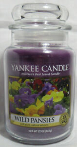 Yankee Candle Large Jar Candle 110-150 hrs 22 oz WILD PANSIES Floral w/extracts