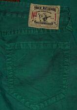 Authentic TRUE RELIGION Geno Nro 1 Tapered Men's Green Corduroy Jeans Sz 33x34